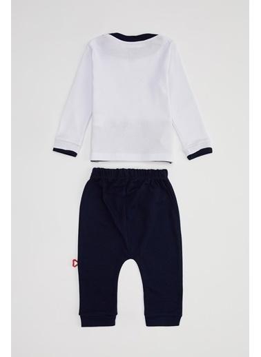 DeFacto Erkek Bebek Baskılı Pijama Takımı Lacivert